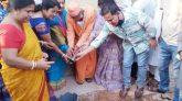 মেজরটিলার শ্রীশ্রী সারদা মায়ের বাড়ী দেবপুর গভীর নলকূপ স্থাপন